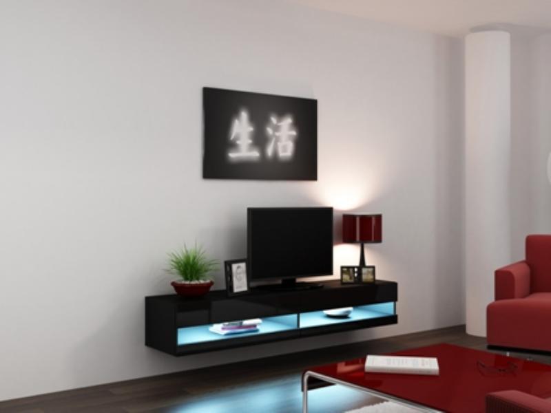 Cama Televizní stolek VIGO New 180 - černá