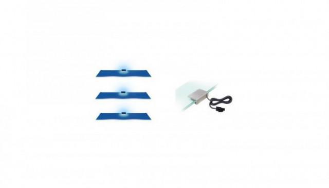 Osvětlení 3 LED - modrá