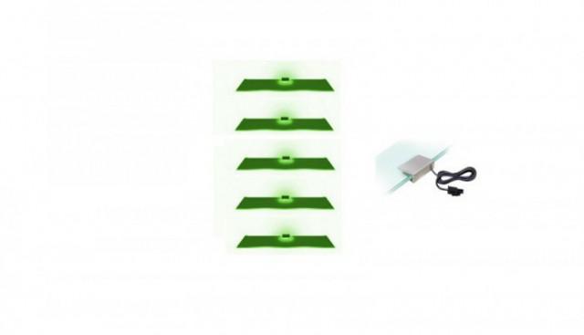 Osvětlení 5 LED - zelená