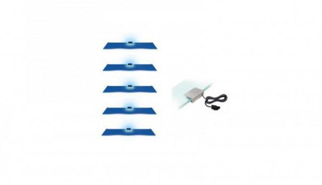 Osvětlení 5 LED - modrá