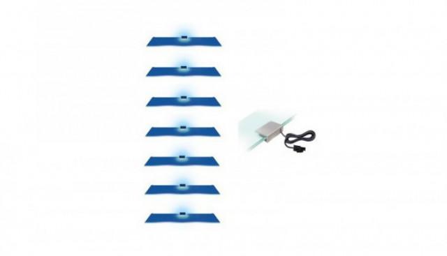 Osvětlení 7 LED - modrá