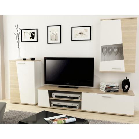 Obývací stěna PISA - ořech morgana/bílá