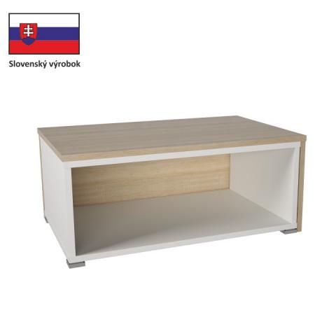 Konferenční stolek DRON - dub sonoma/bílá