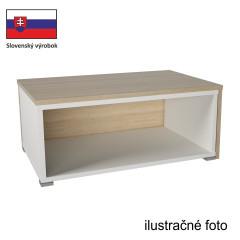 Konferenční stolek DRON - bílá/černá