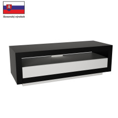 TV stůl AGNES - bílá/černá