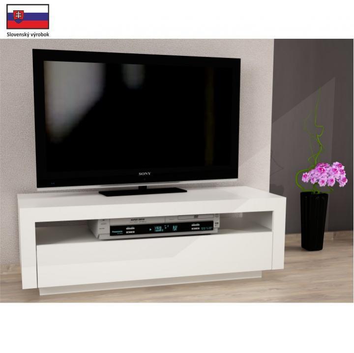Tempo Kondela TV stůl AGNES - bílá + kupón KONDELA10 na okamžitou slevu 3% (kupón uplatníte v košíku)