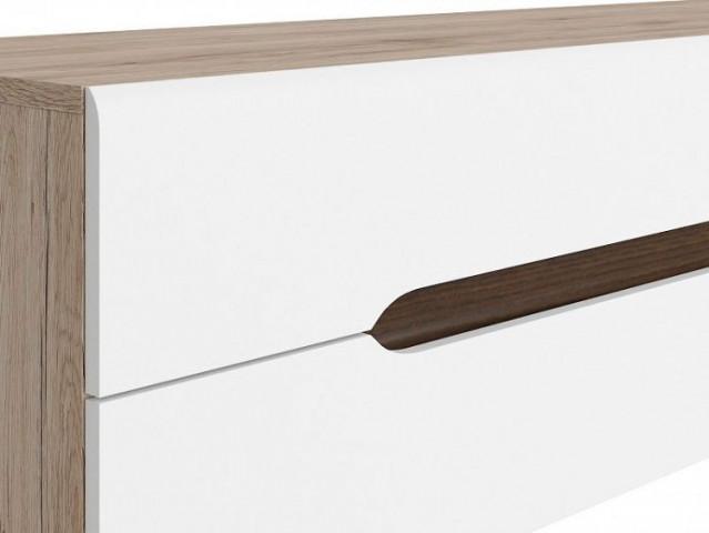 Televizní stolek Elpasso RTV2S - Dub san remo světlý/Bílá