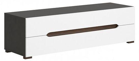 Televizní stolek Elpasso RTV2S - šedý wolfram/bílý mat