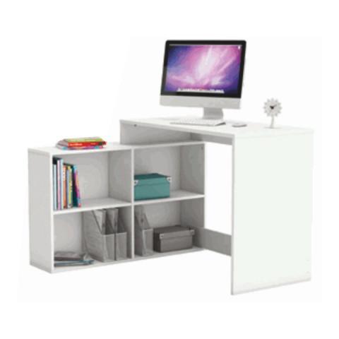 PC stůl KORNER - bílá