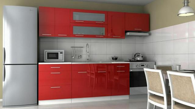 Kuchyňská linka Emilia - červený lesk