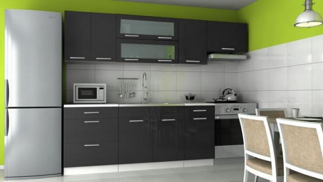 Kuchyňská linka Emilia - černý lesk