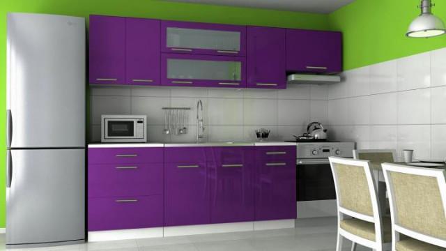 Kuchyňská linka Emilia - fialový lesk