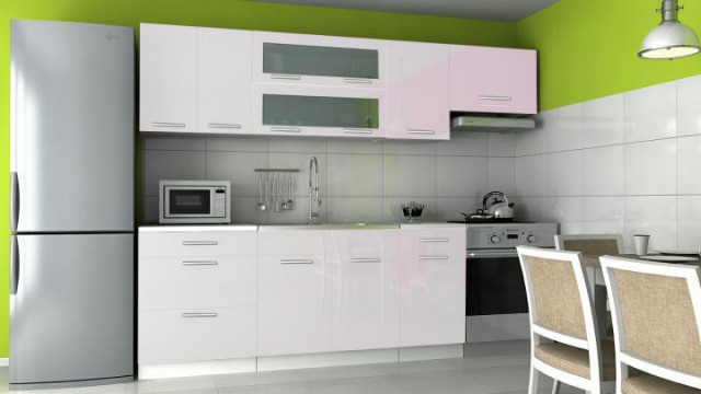 Kuchyňská linka Emilia - bílý lesk