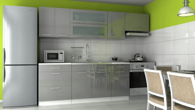 Kuchyňská linka Emilia - šedý lesk