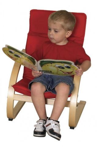 Dětské relaxační křeslo červené