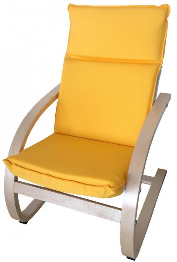 Falco Dětské relaxační křeslo žluté