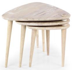 Konferenční stolek Corsica - white wash