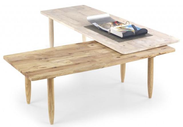 Konferenční stolek Bora-bora - white wash/přírodní