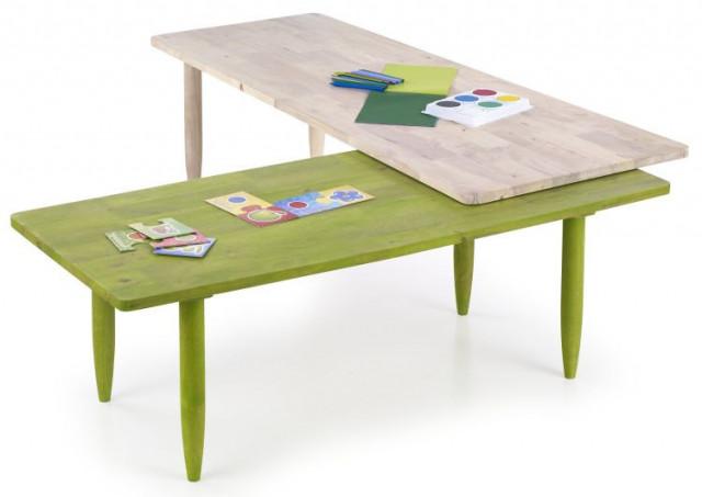 Konferenční stolek Bora-bora - zelená/přírodní