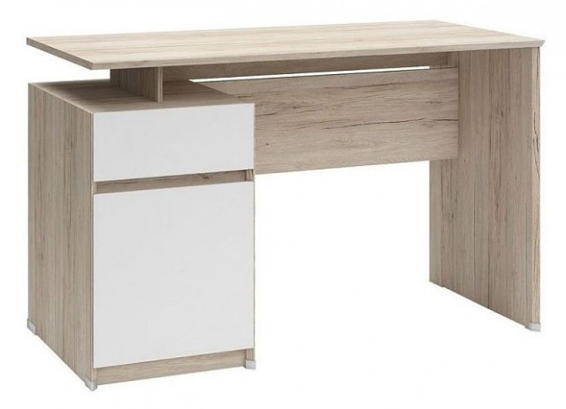 Psací stůl B04 BIU1D1S/120 Dub san remo světlý - bílá