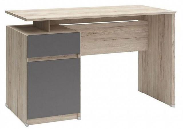 Psací stůl B04 BIU1D1S/120 Dub san remo světlý - šedý wolfram