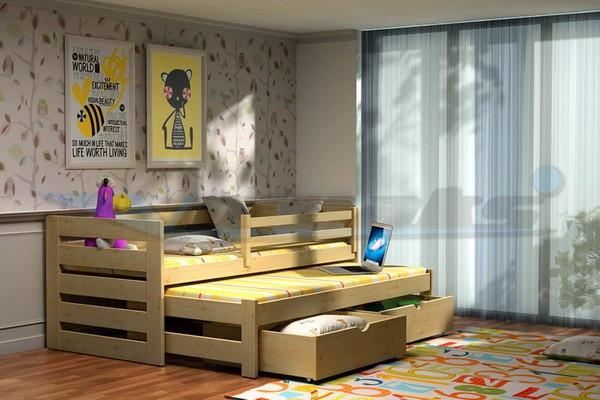 Dětská postel s výsuvnou přistýlkou DPV 007