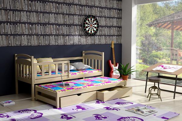 Dětská postel s výsuvnou přistýlkou DPV 008 + zásuvky