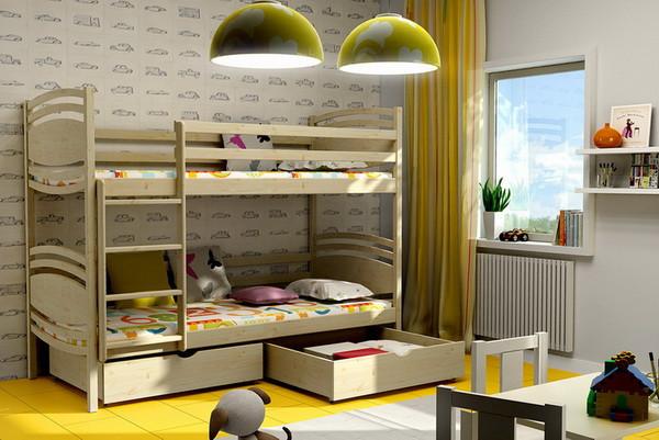 Patrová postel PP 001 + zásuvky