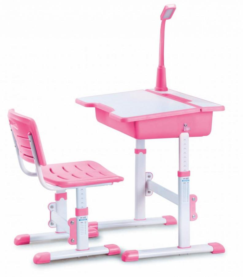 Halmar Psací stůl se židlí ASTRO 3 - růžový