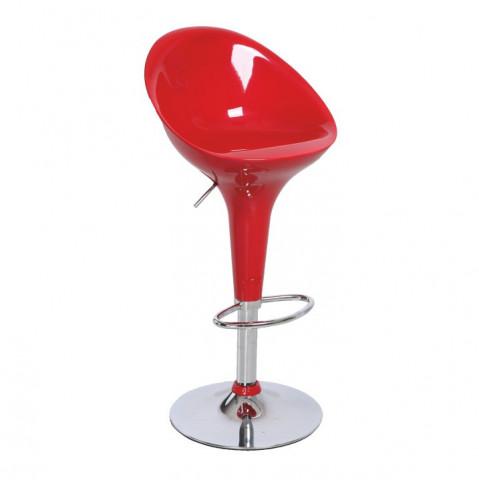 Barová židle ALBA NOVA - chrom / červená