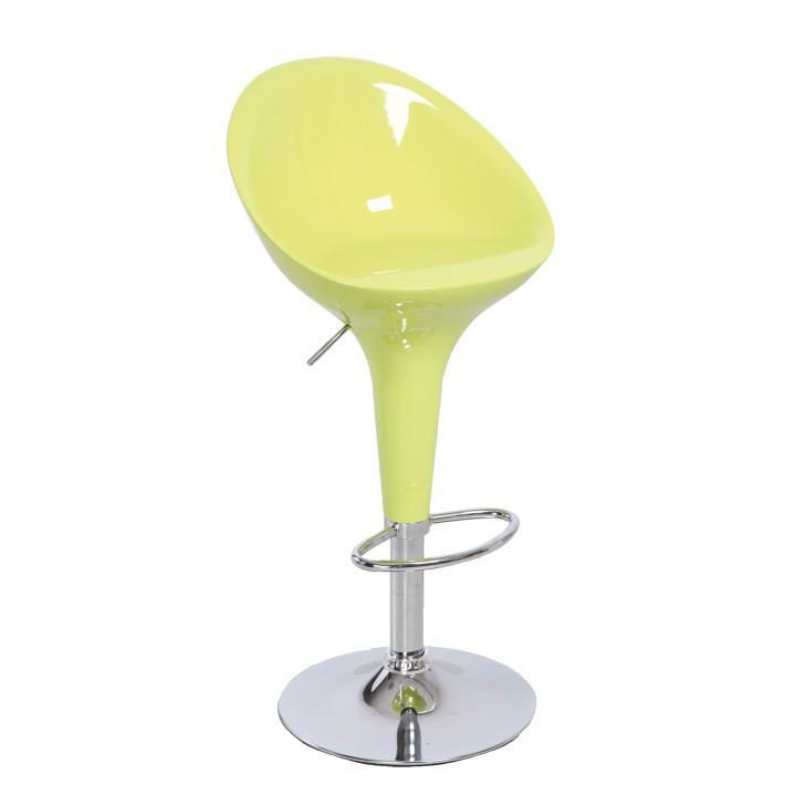 Tempo Kondela Barová židle ALBA NOVA - chrom / zelená
