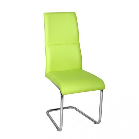 Jídelní židle BETINA -zelená ekokůže /chrom