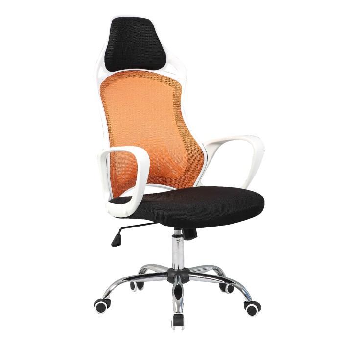 Tempo Kondela Kancelářská židle ARIO - bílá / oranžová,