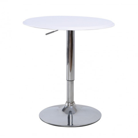 Barový stůl BRANY - chrom / bílá
