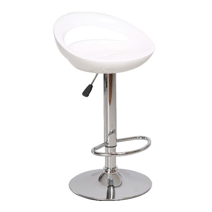 Tempo Kondela Barová židle DONGO NOVA - bílá / chrom