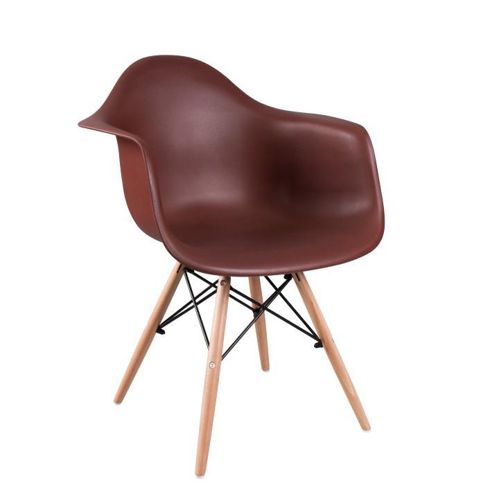 Židle DAMEN - tmavě hnědá