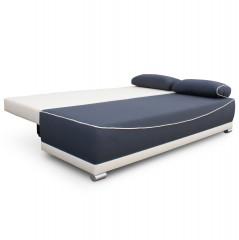Pohovka DINAR - šedá / béžová / polštáře vzor