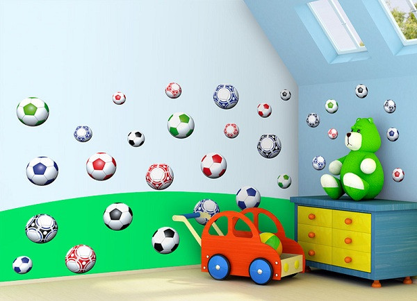 Forclaire Samolepky na zeď Fotbalové míče