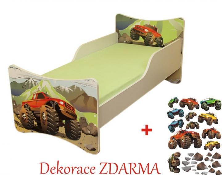 Forclaire Dětská postel Auto postel s úložným prostorem 140x70cm