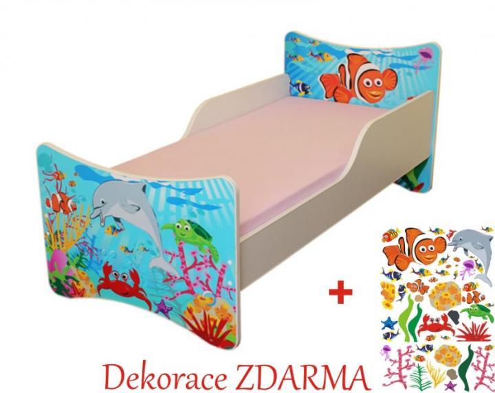 Forclaire Dětská postel Oceán postel s úložným prostorem 140x70