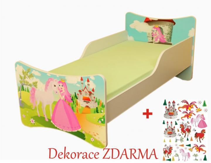 Forclaire Dětská postel Princezna Úložný prostor pod postel 140x70cm