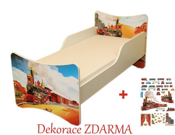 Forclaire Dětska postel Vláček postel bez úložného prostoru140x70cm