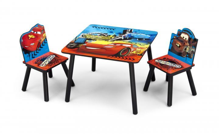 Forclaire Dětský stůl s židlemi Cars II