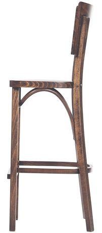 Barová dřevěná židle 311 479 Trenta