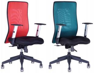 Kancelářská židle Calypso Grand - dvoubarevná - Červená 13A11, Zelená 1511