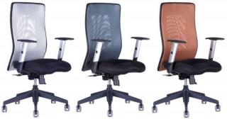Kancelářská židle Calypso Grand - dvoubarevná - Šedá 12A11,Antracit 1211,Hnědá 1611