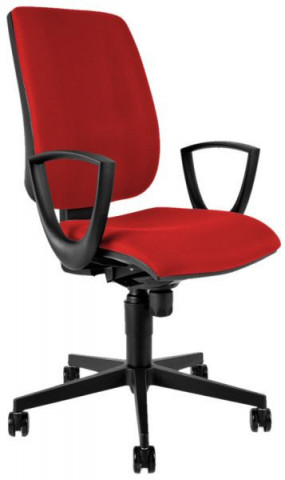 Kancelářská židle 1380 SYN FLUTE s područkami - červená