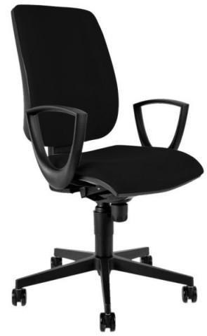Kancelářská židle 1380 SYN FLUTE s područkami - černá