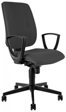 Kancelářská židle 1380 SYN FLUTE s područkami - šedá