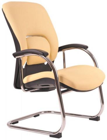 Jednací židle Vapor MEETING kůže - béžová